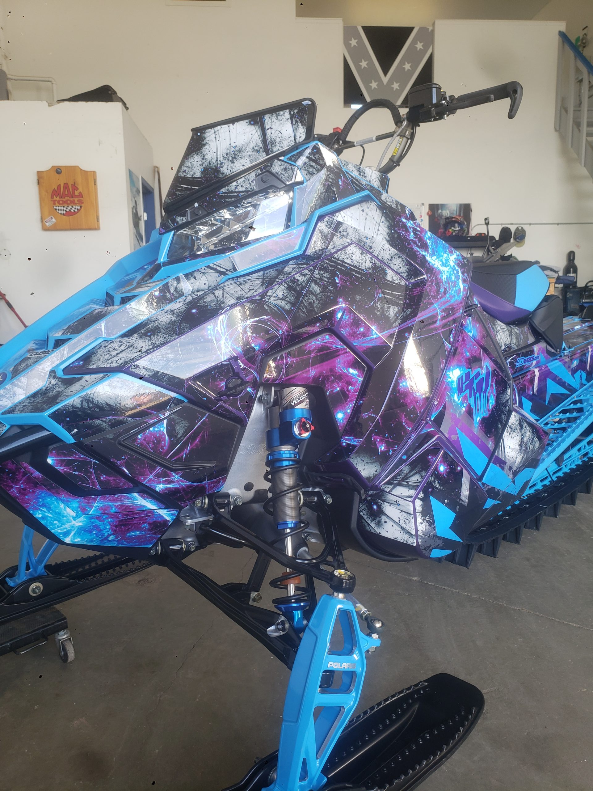 psycho sled with decals