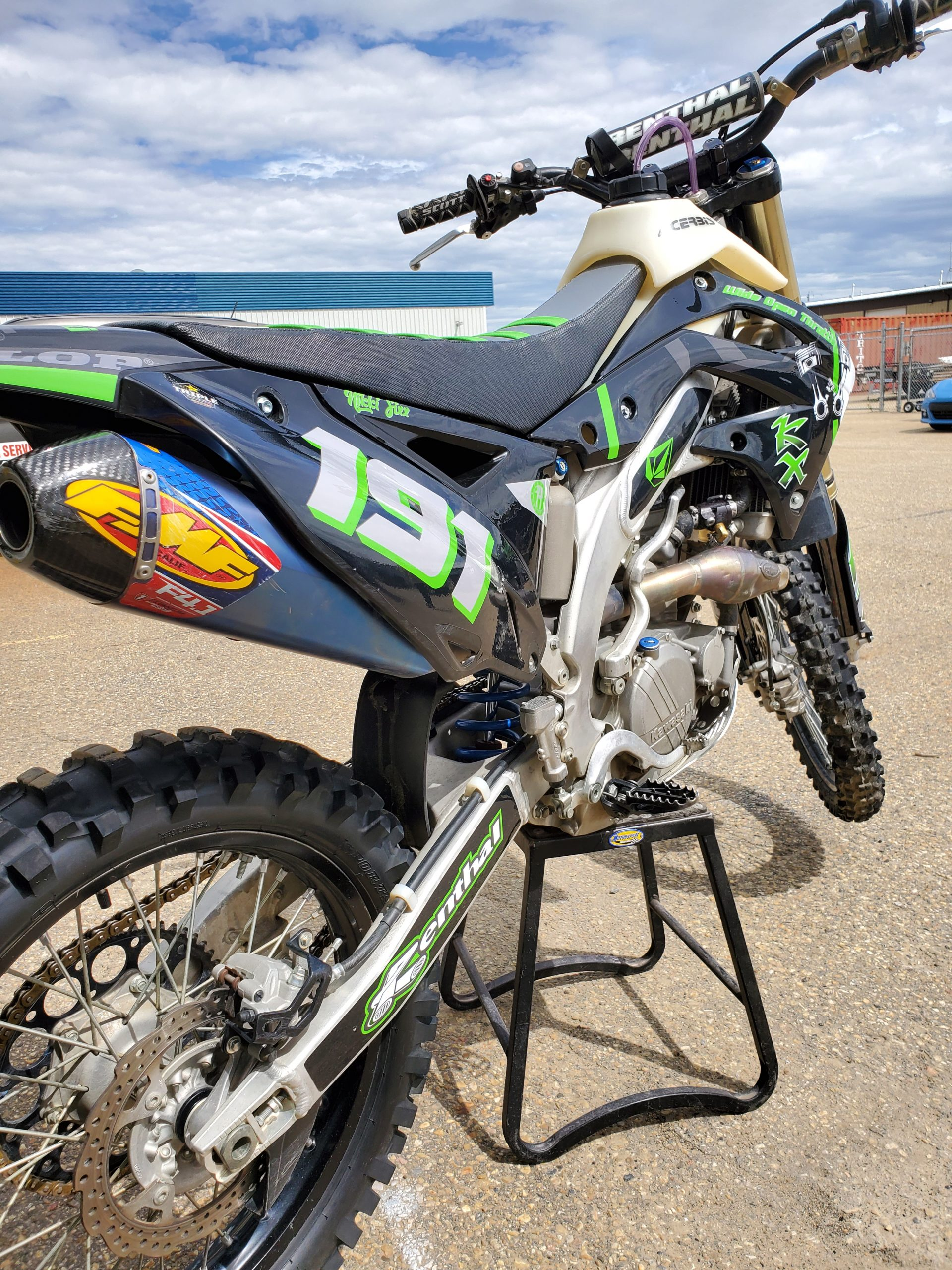 kx250f with fmf pipe