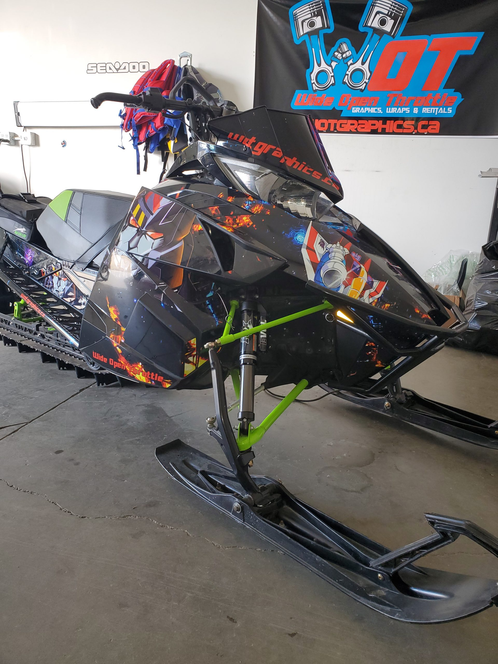 wrapped arctic cat sled rental