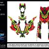 sled wrap Psycho multi colored