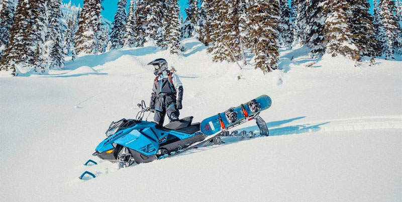 sled wrap on a mountain sled blue skidoo