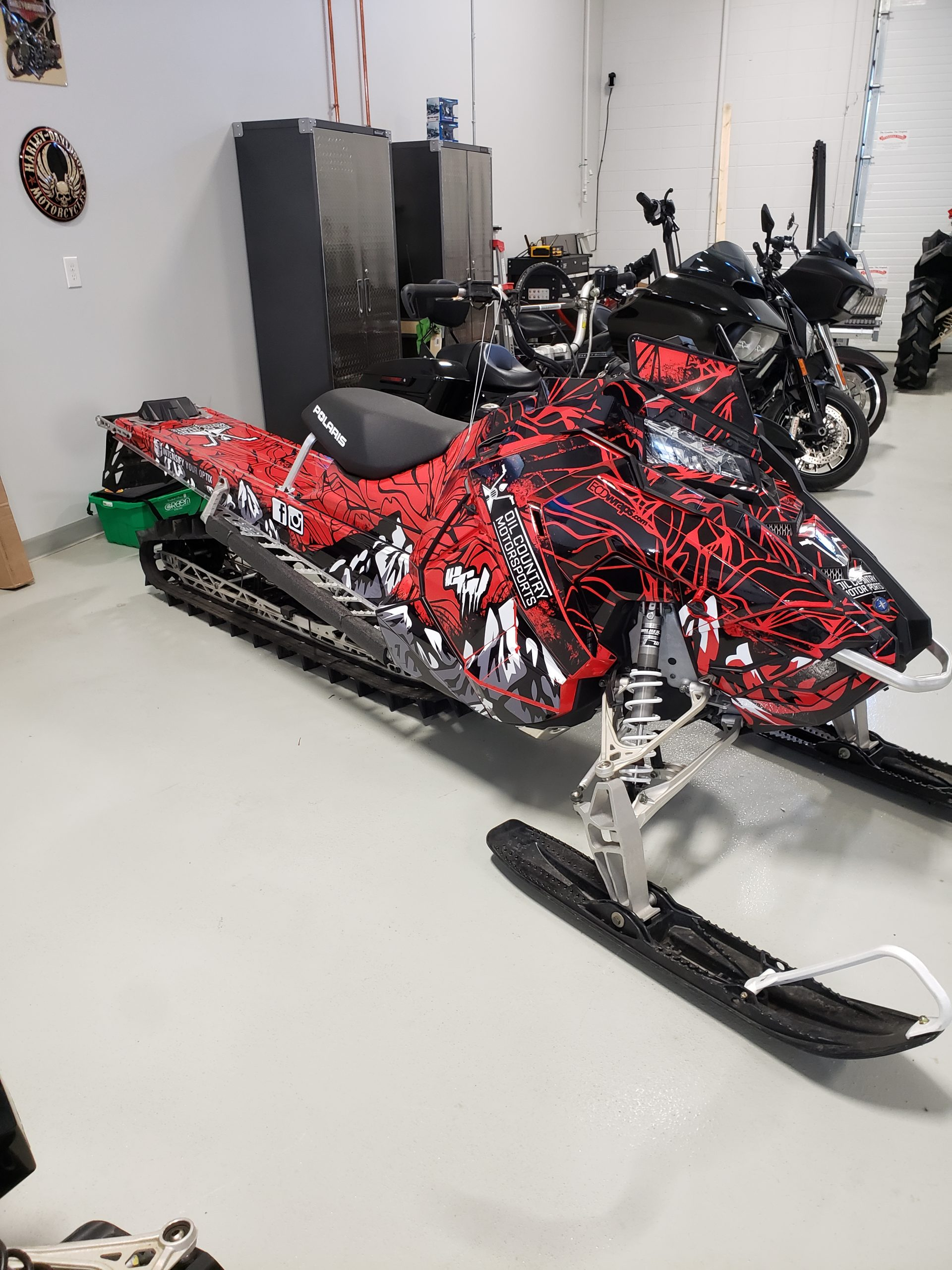 sled wrap in red