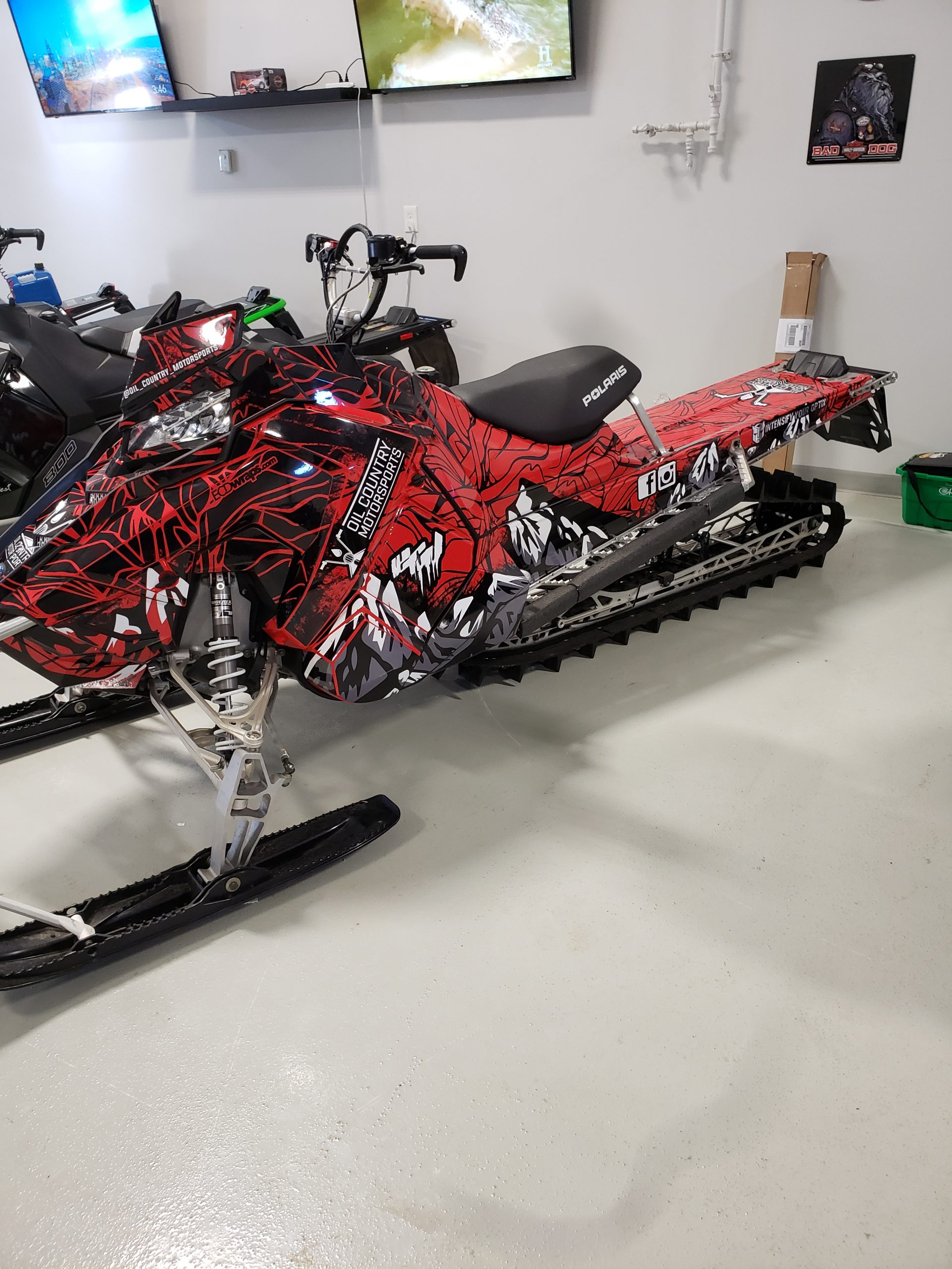 red sled wrap