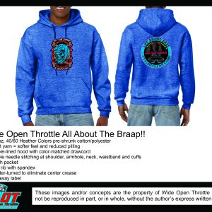 All About the Braaap Blue Hoodie