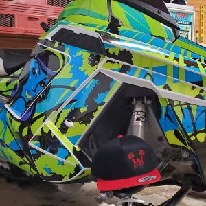 Polaris Sled Wrap Green burst