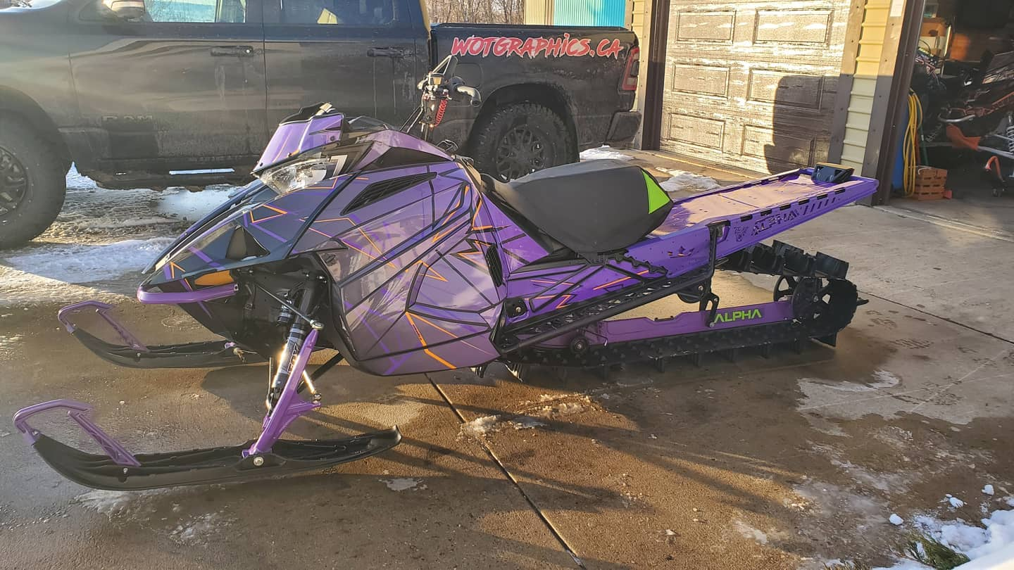 sled wraps purple haze