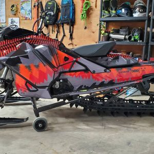 Ski Doo Sled Wrap with Treeline