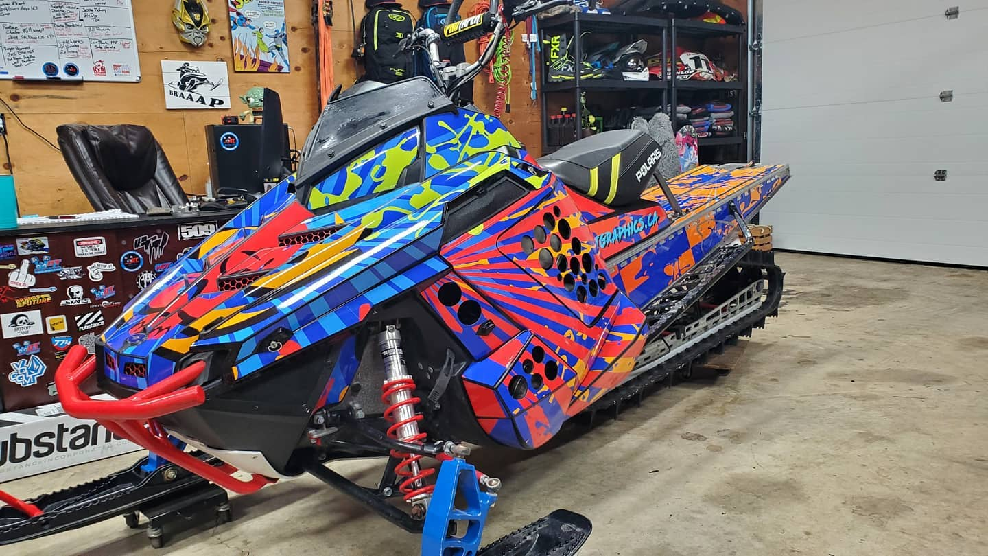 Polaris sledw wraps RMK 163