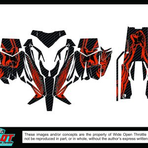 Custom arctic at sled wrap red