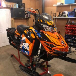 Custom made ski doo wrap orange