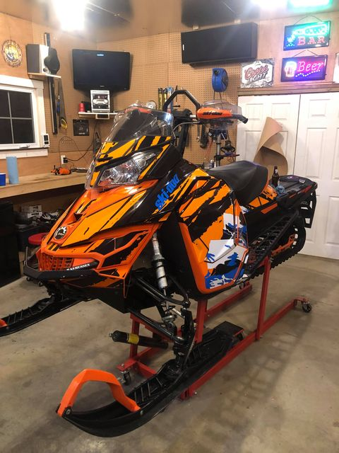 custom sled wrap orange 2